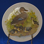 "Halbert's Inc. Mothers Day Plate Titled, ""Mallard Family"""