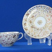 Enamel Decorated Cup And Saucer With English Registry Mark