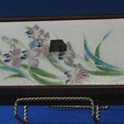 Dresser Box With Iris Decorated Cloisonne Cover