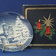Bareuther 1967 Christmas Plate In Issue Box