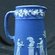 Wedgwood Jasperware Blue Syrup Pitcher