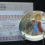 "Knowles Collector Plate Titled, ""Annie And Sandy"""