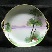 Noritake Handled Hand Painted Pin Dish