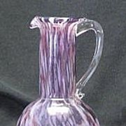 Amethyst Spatter Glass Bulbous Pitcher