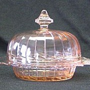 Sierra Or Pinwheel Pattern Covered Butter Dish