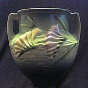 Roseville 196-8 Green Freesia Two Handled Vase