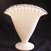 Fenton Silver Crest Fan Vase
