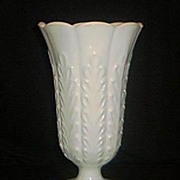 SALE Heavy Milkglass Vase by Brody Co.