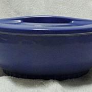 Unmarked Hall China Delphinium Blue Round Refrigerator Dish