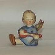 Little Girl Angel Playing A Lute Hummel Mini Candleholder