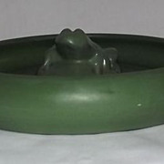 Unmarked Peters And Reed Bowl And Flower Frog