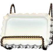 Fenton Milk Glass Hobnail Rectangular Ashtray
