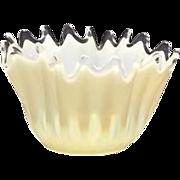 "SOLD Fostoria ""Heirloom"" White Opalescent Candy Dish"
