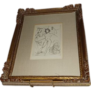 """SOLD Salvador Dali Etching Titled """"Mercury"""""""