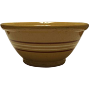 Large Unmarked Yelloware Mixing Bowl