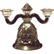 """Fostoria """"American"""" Bell Shaped Double Candleholder"""