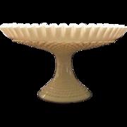 Unmarked Fenton Hobnail Milk Glass Pedestal Fruit Or Center Bowl