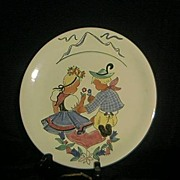 SALE Italian Decorator Plate Signed Pucci Umbertiole