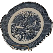 Royal China Currier & Ives Rocky Mountain Cake Plate