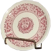 """Five Syracuse China Bread And Butter Plates in The """"Strawberry Hill"""" Pattern"""
