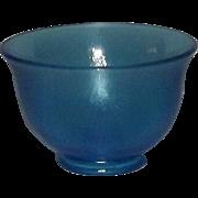 Fenton Celeste Blue Small Footed Bowl
