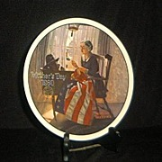 """SOLD 1980 Mother's Day Plate by Norman Rockwell """"A Mother's Pride"""""""