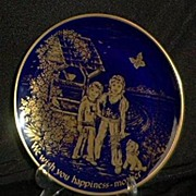 SALE Limited Edition Cobalt Blue Mother's Day Plate 1975