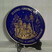 SALE Lindner 1973 Christmas Plate