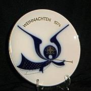 SALE KPM 1974 Angel And Horn Christmas Plate