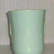 Zainsville Pottery Company Aqua Flared Vase