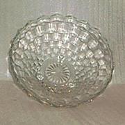 "Indiana Glass ""Whitehall"" Large Three Toed Bowl"