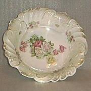 SALE Rose Decorated Porcelain Bavarian Bowl