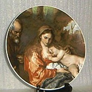 """SALE Bareuther Plate Titled """"The Holy Family"""""""