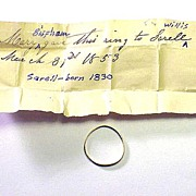 SALE Stuart Posy Ring Given to Sarell Willis by Mary Bispham, Cousin of Ralph Waldo ...