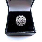 SOLD GLAMOROUS Art Deco OEC Diamond/18k WG Dress Ring, 1.33 Ct. TW, w/$4,350.00 GIA Appraisal,