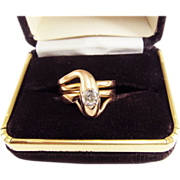 SALE MONUMENTAL Unisex Victorian .85 Ct. OMC Diamond/18k Serpent Ring, 10.04 Grams, c.1875!