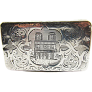 SALE SO RARE French Napoleon III Sterling Silver Snuff Box, Notre Dame Motif, 67.82 ...