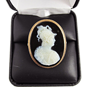 SALE MUSEUM-WORTHY Unisex Victorian Hardstone Cameo Portrait of Prince Albert as Mars Set in 1