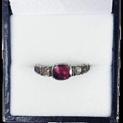 SALE UNTOUCHED Baroque George II Garnet/Rock Crystal Sterling/15k Ring, c.1730!