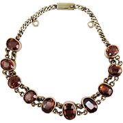 SALE BEST EVER American Late Victorian 14.46 Ct. TW Imperial Topaz/14k Bracelet, c.1895!