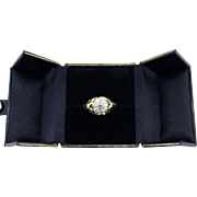 SALE GORGEOUS Unisex 1.25 Ct. OEC TW Edwardian Diamond Cluster Ring in Sterling & 14k Gold, 5.