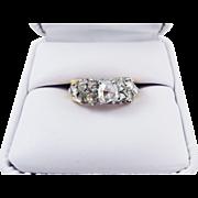 SOLD MAGNIFICENT 1.4 Ct. TW Georgian Golconda Rose-Cut Diamonds set in Modern 18k Ring, c.1930