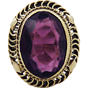 SALE DAZZLING Late Victorian 6.82 Ct. Siberian Amethyst/14k Ring, 5.26 Grams, c.1895!