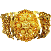 SALE MASTERPIECE Georgian Solid 20k Cannetille Work Bracelet, 48.53 Grams, c.1820!