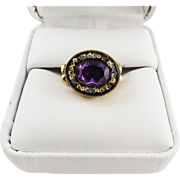 SALE GLORIOUS Regency Unheated 2.61 Ct. Pink Sapphire/Micromosaic/12k Ring, c.1810!