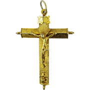 SALE MUSEUM-WORTHY Spanish Colonial Silver Gilt Pectoral Cross, c.1600!