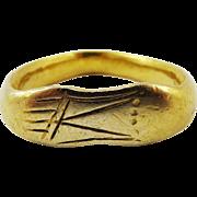SALE MUSEUM-WORTHY Unisex Ancient Romano-Celtic 22k Sandal-Motif Ring, 6.18 Grams, c.150 AD!