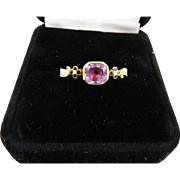 SALE SUBLIME George II Amethyst/White Enamel/18k Mourning Ring for a 19-Year-Old ...