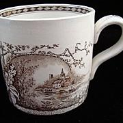 SALE Exc Antique Aesthetic Movement Mug ~ RUSTIC 1886