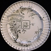 SALE EXC Robert Burns Transferware Plate 1884
